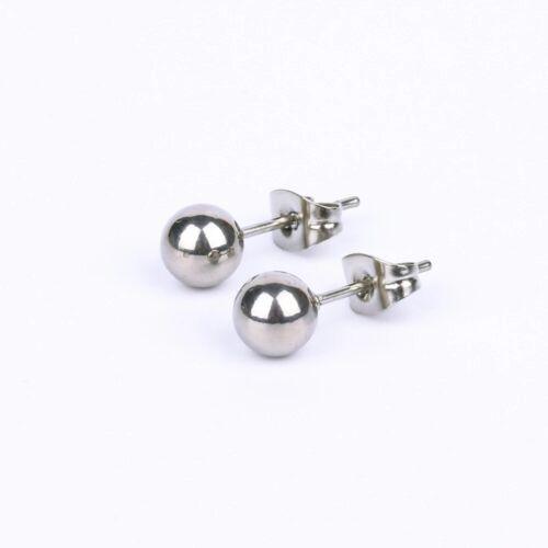 Pendientes de plata esterlina de la bola del grano Studs Moda bola redonda Aretes Reino Unido