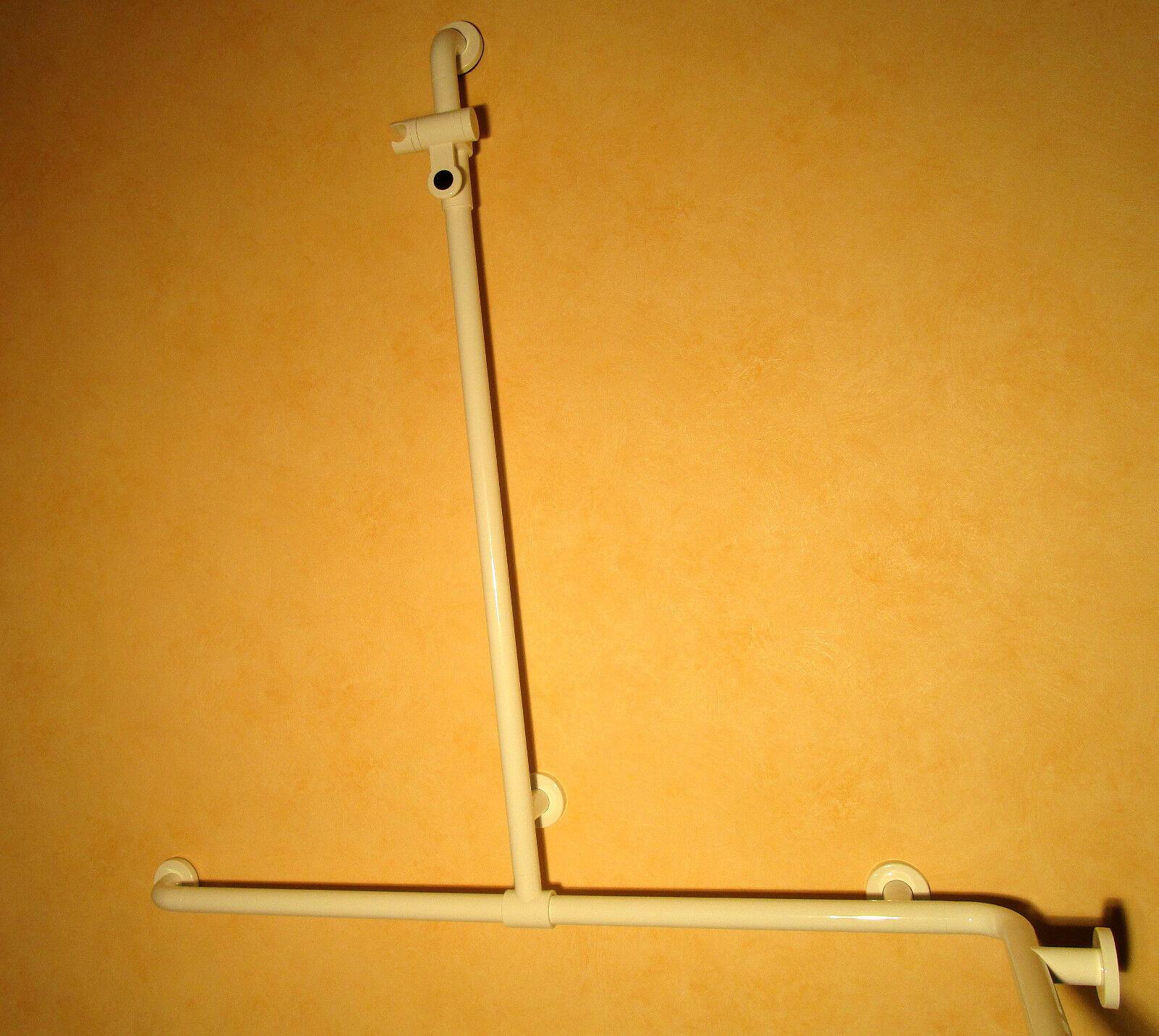 Hewi Serie 801 Duschhandlauf 962x962mm & Brausehalterstange 1100mm; 801.35.320