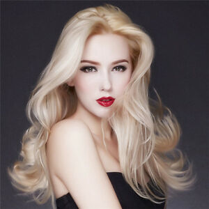 European Retro Center Parting Blond Mix Orange Fashion