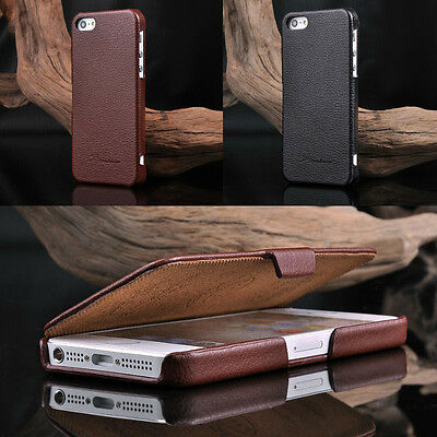 Luxury Fashion Flip Genuine Leather Phone Cases Covers For iPhone 5S(iPhone SE)