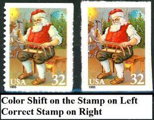 4errors 4correct Santa & Children Color Shift Set Of 8 Mnh Scotts 3008 To 3011 Harmonious Colors