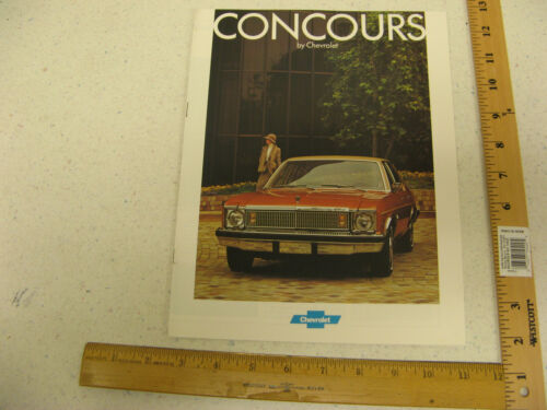 1977 Concours by Chevrolet Sales Brochure Literature Catalog Chevy 77 8 Pages