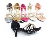 TOP Schuhe Sandalen Pumps Kinder Mädchen festlich mit Strass Größe: 28 bis 35