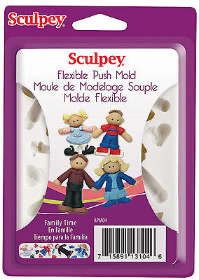 Sculpey Push Molds Family Time, Crafts, jewellery making, polymer clay