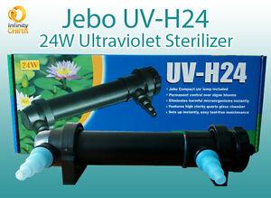 Jebo UV-H24 24W Ultraviolet Sterilizer for Aquariums & Ponds - Great Clarifier