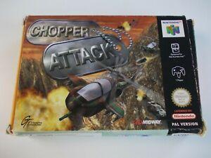 Chopper ATTACK NINTENDO N64 videojuego probado y funcionando (No Manual) PAL