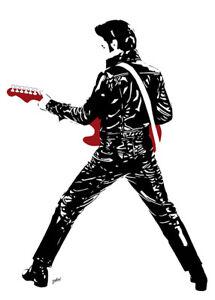 Elvis Presley - Shiny Elvis - Original (signed) art print - Jarod Art