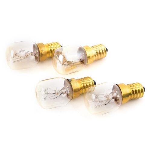 Cooker Light Bulbs 240v SES E14 300 Degree 2//4//10x 15W//25W Oven Lamps T izF/_X