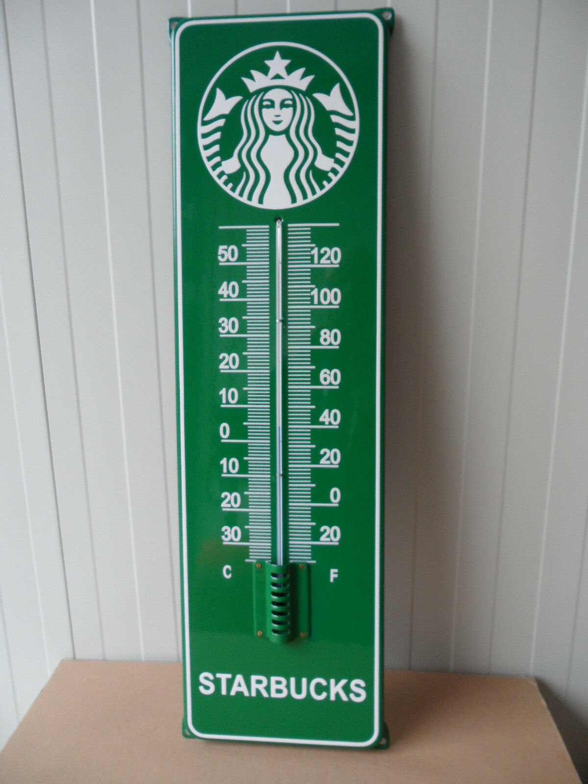 STARBUCKS - Unique Porcelain Enamel Sign +Thermometer (No City Icon / YAH Mug )