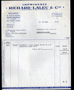 SAINT-BENOIT-86-IMPRIMERIE-d-039-ETIQUETTE-de-FROMAGES-034-RICHARD-LALEU-034-en-1963