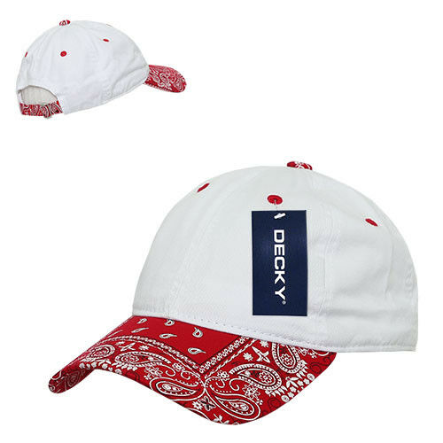 Decky Trendy Paisley Bandanna Polo 6 Panel Baseball Snapbacks Hats Caps Unisex