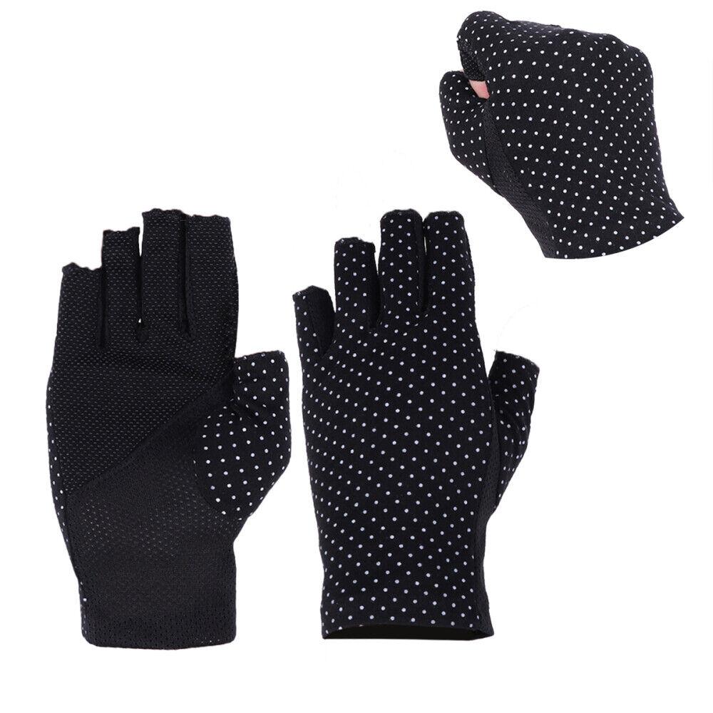 1 Pair Outdoor Sunblock Half Finger Gloves Workout Mitten UV Protection Gloves