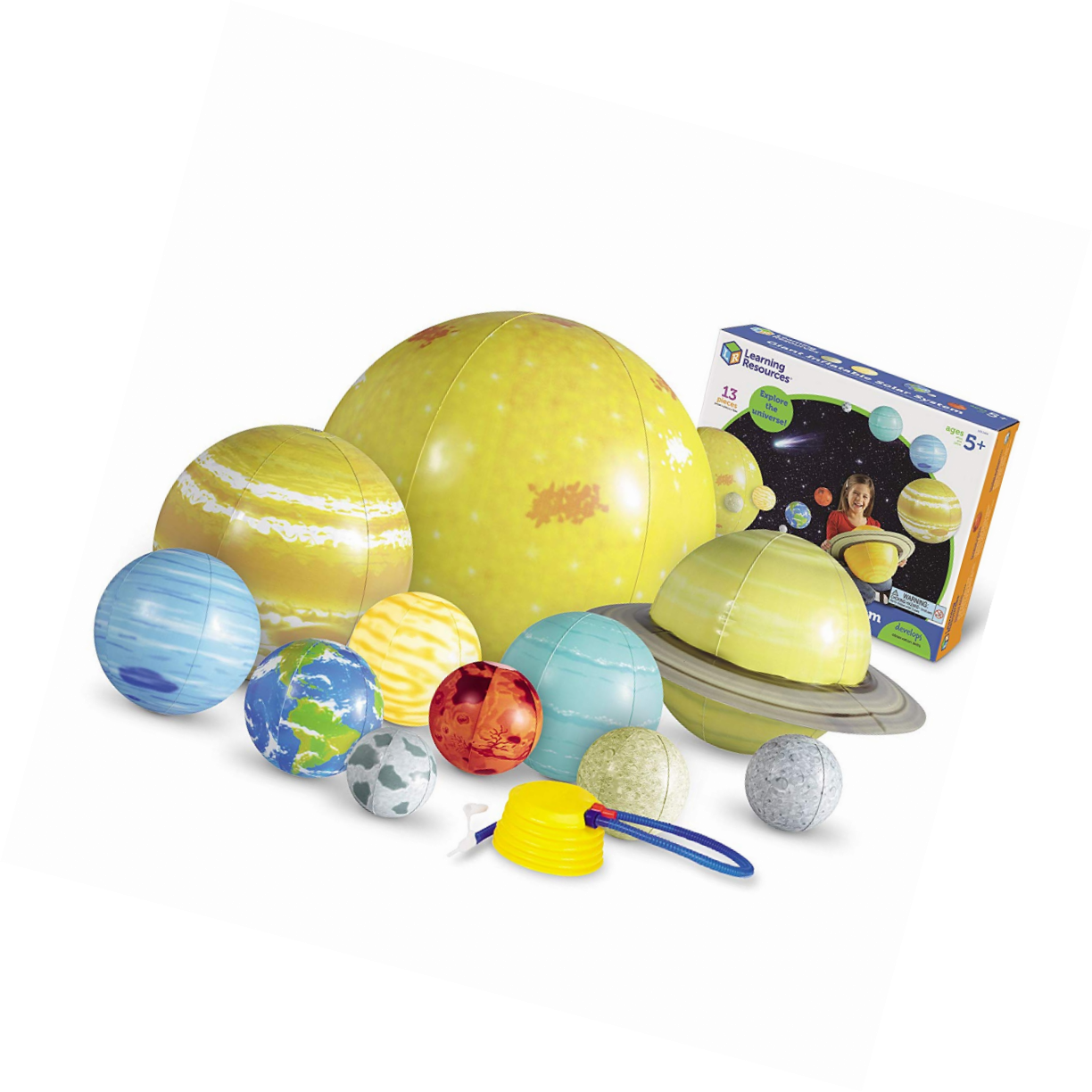 Learning Resources Inflatable Solar System Set -  Hanging Planets Educational