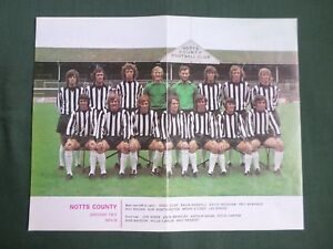 NOTTS-COUNTY-FOOTBALL-TEAM-COLOUR-PICTURE-73-74-CLIPPING-CUTTING