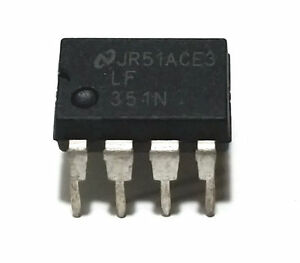 5PCS National Semiconductor LF351N LF351 JFET Operational Amplifier - New IC