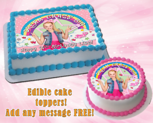Peachy Jojo Siwa Edible Birthday Cake Topper Personalized Premium Funny Birthday Cards Online Aeocydamsfinfo