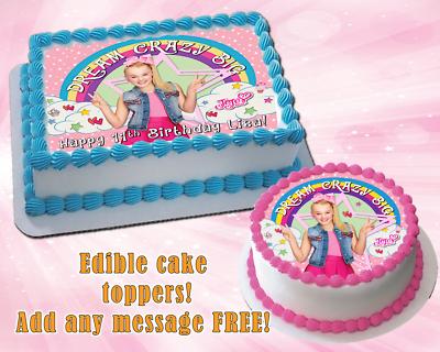Brilliant Jojo Siwa Edible Birthday Cake Topper Personalized Premium Funny Birthday Cards Online Alyptdamsfinfo