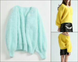 Turchese-MINT-VERDE-GREEN-10-other-colors-Angora-Lana-Maglione-Sweater-Jumper