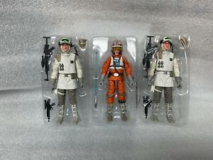 STAR-WARS-BLACK-SERIES-lot-2-hoth-rebels-snowspeeder-luke-40th-in-trimmed-trays