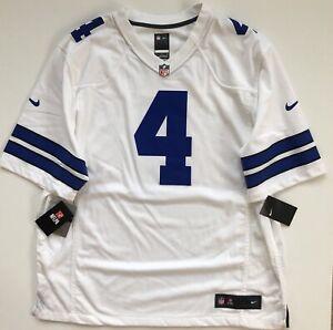 brand new 261e0 bb976 Dak Prescott Dallas Cowboys Nike White Game Jersey Men's 2XL ...
