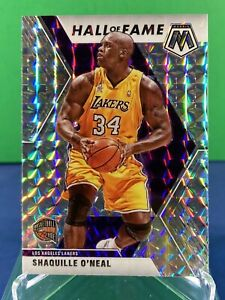 2019-20-Mosaic-Shaquille-O-neal-Hall-Of-Fame-Silver-Wave-Prizm-Los-Angeles-Laker
