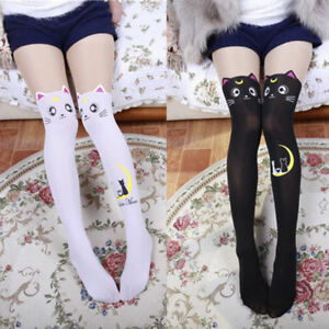 190e8588f6c Sailor Moon Cat Luna Stockings Socks Pantyhose Anime Cosplay Props ...