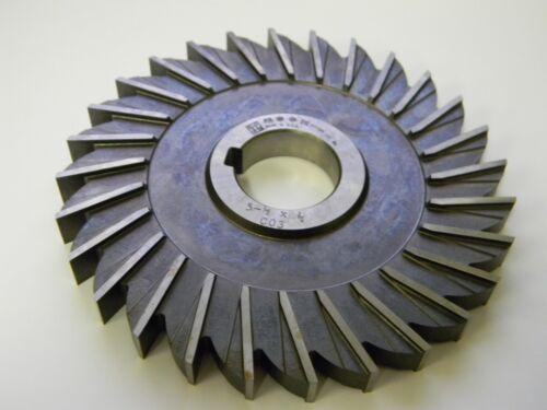 """Moon Cutter Side Mill Cutter 5-1//2/"""" x 1//2/"""" x 1-1//4/"""" HSS 28T #SM55500-1-28T"""