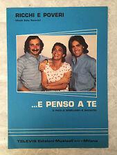 SPARTITO MUSICALE E PENSO A TE RICCHI E POVERI D.PACE C.MENELLONO G.BALDUCCI