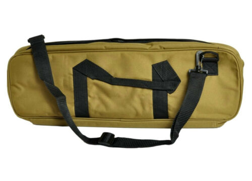 """Holds Pieces Board Clock Khaki More Deluxe 24"""" x 9"""" Nylon Chess Bag"""