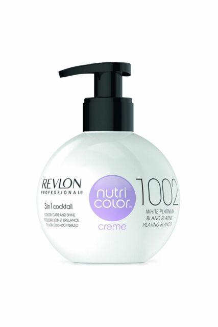 Revlon Nutri Color Hair Creme 3 in 1 color 270ml White Platinum #1002