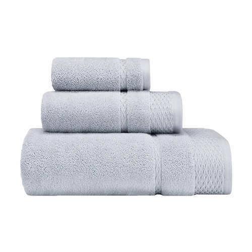 Gray,White Laura Ashley Harmony Zero Twist 3-piece Towel Set **FREE SHIPPING**