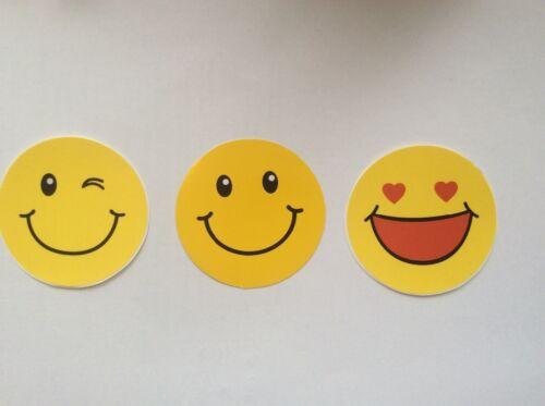 Smiley Sticker Set 3x Aufkleber Emoji Tuniing whatsapp Surf Skateboard Decal