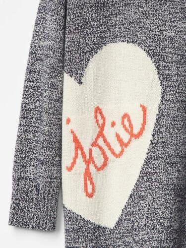 NWT $40 Baby GAP Intarsia Heart Jolie Sweater Tunic Dress 12 18 24 mo 2T 3T 2 3