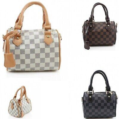 Ladies Designer Inspired Twin Shoulder Bag Womens 2-in-1 shoulder strap Handbag