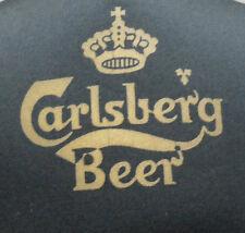 Vintage 1980s Carlsberg Black Cap Hat Adjustable Strap Back NWOT
