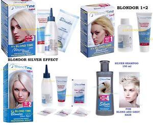 Candeggio-dei-capelli-KIT-Schiarente-Biondo-Supra-Silver-Shampoo-Colorante-Biondo
