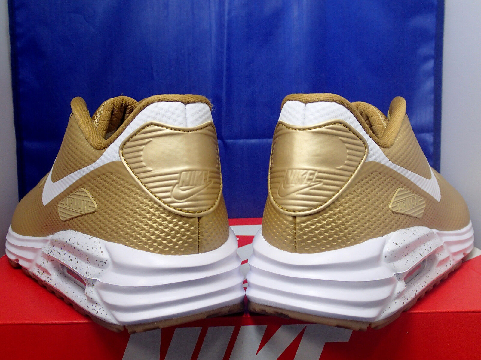 Damen Nike Air Max 90 Hyperfuse Premium Identifikation Gold-Weiß Gum Gum Gold-Weiß Sz 9 c21f80