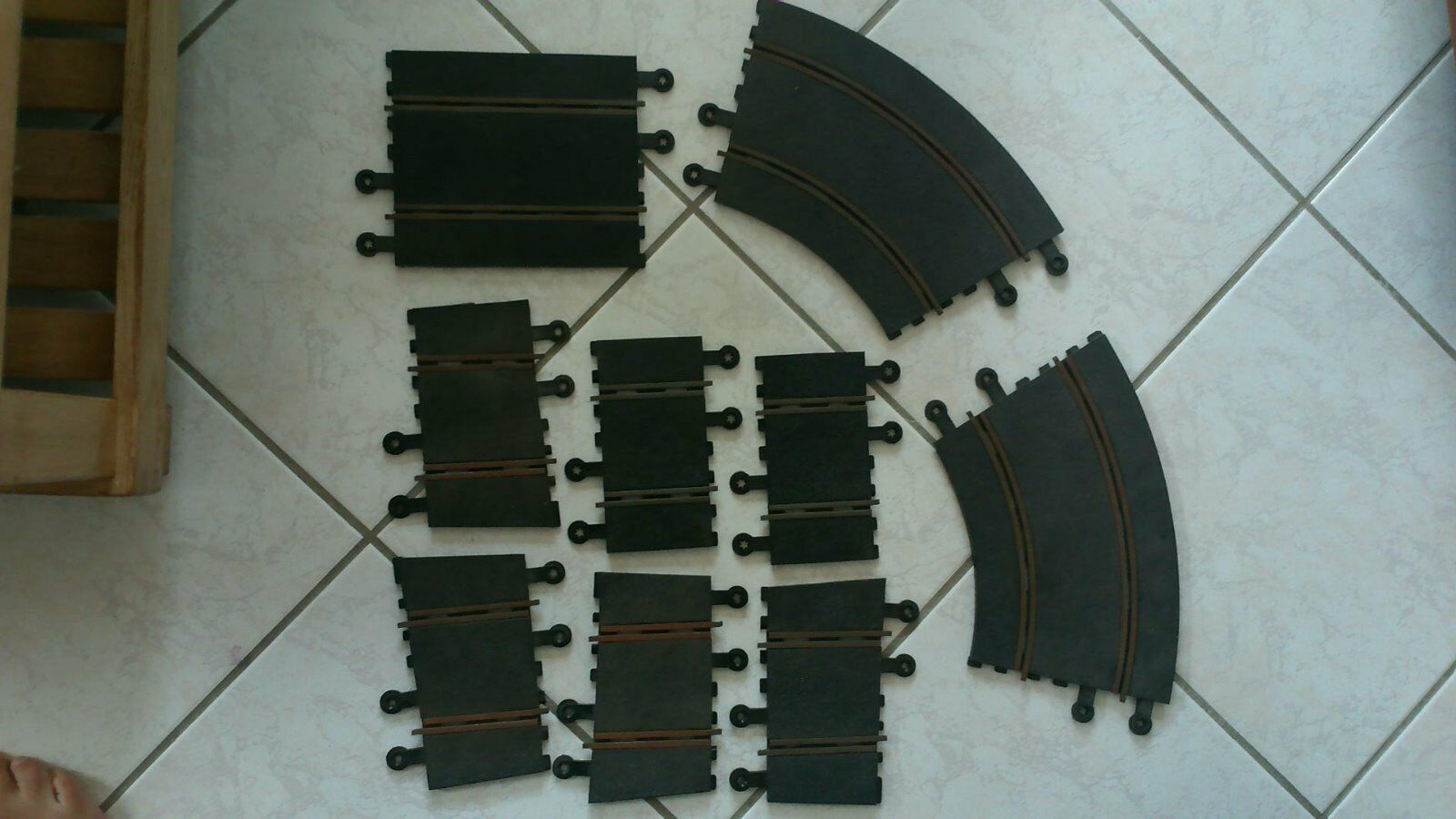 Rare lot  TRI-ANG SCALEXTRIC   lot 9 RAILS courbes et droites port offert
