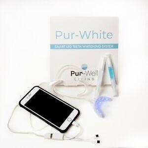 Pur-Well Living Pur White Smart Phone Teeth Whitening System, Whitening Pen