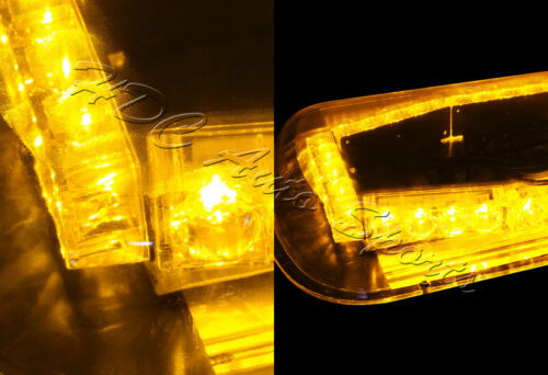 32 LED Amber /& Yellow Roof Top Emergency Hazard Warning Flash Strobe Light Kit 6