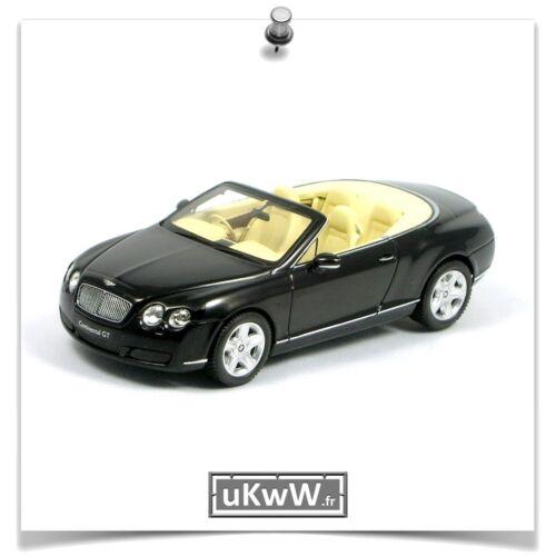 Minichamps 1//43 Bentley Continental GTC 2006 noir