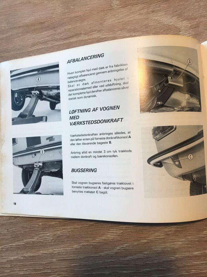 Andre reservedele, Instruktionsbog , Fiat 128