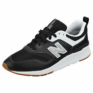 Details about New Balance Cm997 Mens Black Silver White Leather & Textile Running Trainers