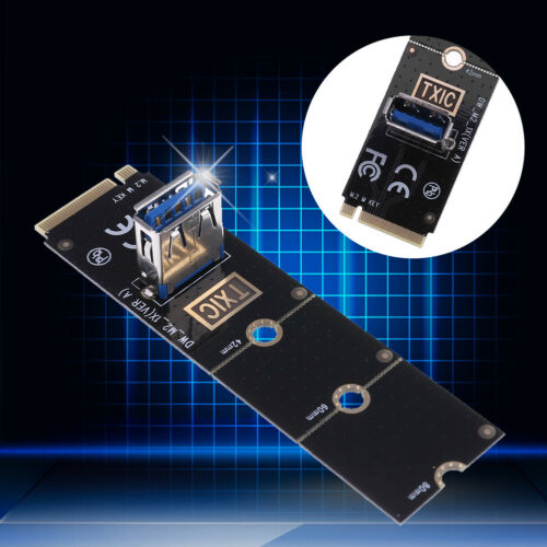 M.2//NGFF to USB3.0 PCI-E X16 Converter Adapter Graphic Card Cable Extender Panel