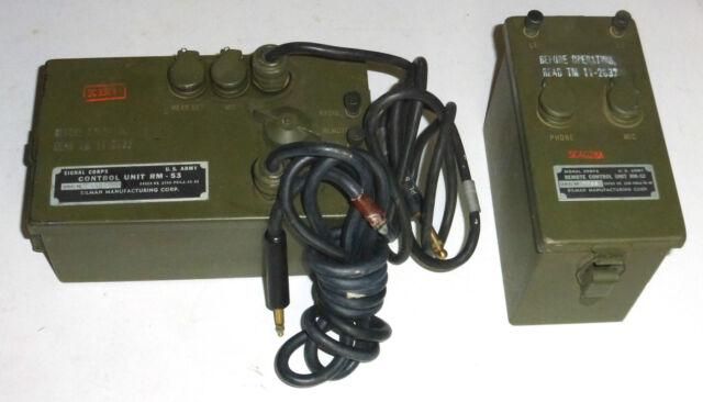RC-261 ensemble WWII contrôle à distance d'un émetteur récepteur Signal-Corps