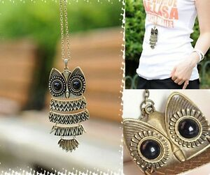 Fashion-Retro-Owl-With-Big-Eye-Pendant-Necklace-Sweater-long-Chain-Great-Gift