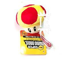 MARIO SUPER FUNGO PELUCHE keychain plush doll mushroom funghetto rosso giallo