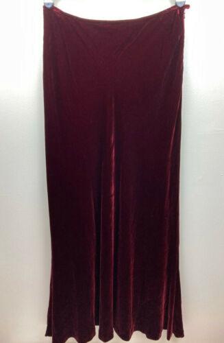 Lauren Ralph Lauren Womens Maxi Skirt, Velvet, Ray