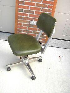 Vintage Royal Office Chair Metal Industrial Age Green Vynal Ebay