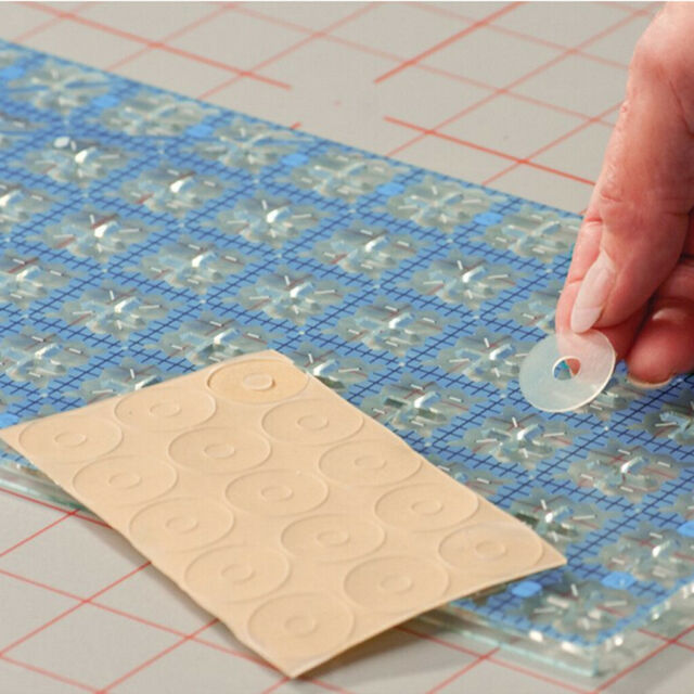 DIY Clear Silicone Quilting Ruler Grip-True Grips Non Slip Adhesive Rings